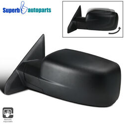 For 2009-2019 Dodge Ram 1500 Manual Foldable Abs Left Driver Side Mirror 1pc