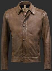 Matchless Brown Captain Leather Jacket L Rrp1135 Gbp New Perfect Gift