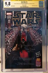 Star Wars 1 Cgc 9.8 Signed By Mcdiarmid Prowse Bulloch Harris Ny Toy Fair Edit.