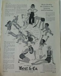 1934 Best And Co Girls Boys Vintage Swimwear Swimsuits Summer Fashion Vintage Ad