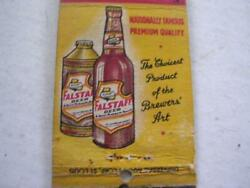 1940and039s Frank Marchesi Represtative For Falstaff Brewing Co St Louis Matchcover