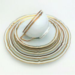 Raynaud Limoges Porcelain 40 Piece And039marie-antoinetteand039 Dinnerware Set