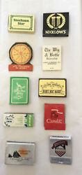 Vintage Lot Of 10 Rare Antique Matchbooks Old Advertising Matches Minnesota