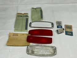 1964-1966 Ford Truck Nos Tail Light Lens And Chrome Bezel Taillight New Old Stock