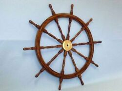 Brass And Wood Ship Wheel 60 Inches Antique Boat Steering Wheel Nautical Items