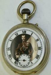Rare Imperial Russian Army Officerand039s Award Silver Longines Pocket Watch C1896