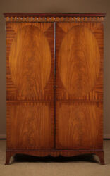 Two Door Antique Mahogany Wardrobe By Kendal Milne And Co C.1950