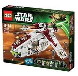 Lego Star Wars Republic Gunship Andtrade 75021 With 7 Minifigs And Weapons [new]