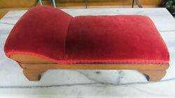 Antique Victorian Salesman Sample Chaise Lounge Fainting Couch W Straw Stuffing