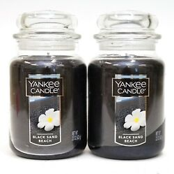 New Yankee Candle Lot Of 2 - 22oz/ 623g Black Sand Beach Large Jar Candles