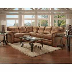 American Furniture Classics Model 8506-40k Wild Horses Two Brown 8and039 X 10and039