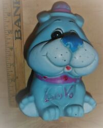 Vintage Rubber Blue Dog Squeaky Squeaker Toy