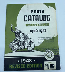 1936 - 1942 Indian Motorcycle Factory Manual Parts Book Catalog Chief Four Scout