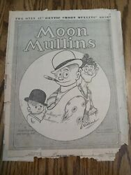 The Only Authentic Moon Mullins Song Sheet Music 1929