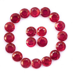 Natural Red Ruby 4 Mm Round Cut Faceted Loose Calibrated Gemstone Gf 1000 Pieces