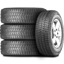4 Tires Continental Vancontact Winter 225/75r16 Load E 10 Ply Studless Snow