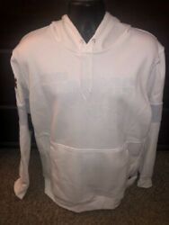 Nike Mens White Dri-fit On Field Denver Broncos Pullover Hoodie Size Xl Nwt