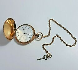 Vintage Elgin 14kt Sold Gold, Chain/key Gold Filled 116.2 Gm Perfect Condition