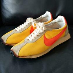 Nike Made In Japan Size11 Yellow Orange Beige Nylon/suede Menand039s Sneakers Used