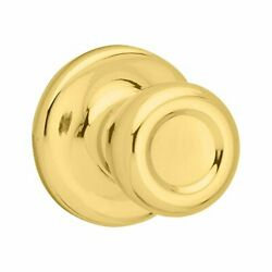 Kwikset 92001-519 Mobile Home Hall And Closet Door Knob In Polished Brass