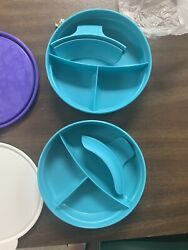 Tupperware Childrenandrsquos Divided Bowls 2552 And Handle And 1 Microwave Mug Set Of 3