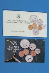 Us Mint 1989 Pandd Uncirculated 10-coin Set With Pandd Tokens