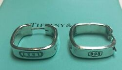 Rare And Co. 1837 Sterling Silver Square Hoop Earrings 2mm X 2mm W/ Box