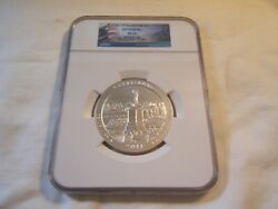 2011 P Gettysburg America The Beautiful 5 Oz Silver Coin Ngc Sp70