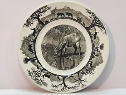Wedgwood Kruger National Park Waterbuck 1st Edition Dinner Plate With Map