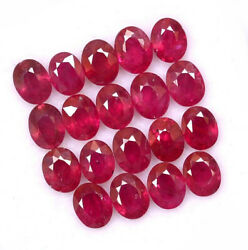 Natural Red Ruby 5x4 Mm Oval Faceted Cut Loose Aaa Quality Gemstone Gf 1000p Lot