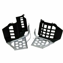 New Silver And Black Heel Guards Footrest Nerf Bars For Yamaha Banshee Yfz350