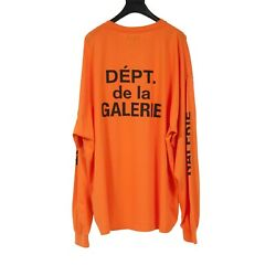 Gallery Dept. Vintage French Collector Orange Long Sleeve T Shirt Size Xxl