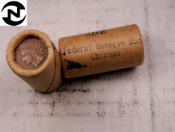1 Sealed Indian Head Penny Half Roll // Federal Reserve Chicago // 25 Coins