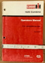 Case-ih 1620 Combine Operators Manual Serial Jjc0032630 And After. 1989.