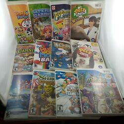 Wii Game Lot Of 12 Kids Bundle Look At Pictures