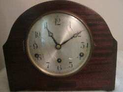 Antique Parlor Kitchen Shelf Mantel Clock Pre 1935 Bee Hive Style Westminster