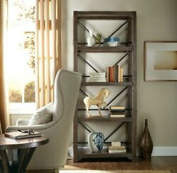 New Industrial Timber-beam Bookcase Solid Wood And Steel Rustic Modern Style