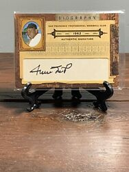 Willie Mays Auto /25 2008 Donruss Playoff Biography Hof Giants Goat