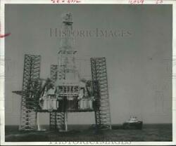 1968 Press Photo Ocean Master I Deep-water Drilling Rig In Gulf Of Mexico