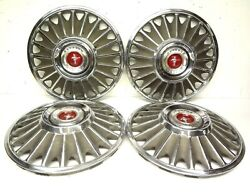Ford 1967 Mustang Set 4 Wheel Covers 14 Hubcaps Hubcap Gt Cover