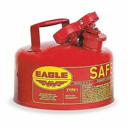 New Eagle Safety Red Gas Can 1 Gallon Osha And Nfpa Approved.
