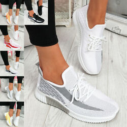 Women Breathable Running Sneakers Trainers Sports Gym Tennis Walking Shoes Size