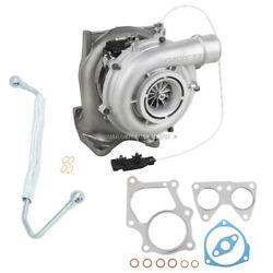 For Chevy Gmc 6.6l Duramax Lbz Turbo W/ Turbocharger Gaskets And Oil Feed Line Tcp