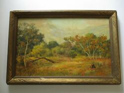 Price Signed Antique Oil Painting American Plein Air Landscape Impressionism Old