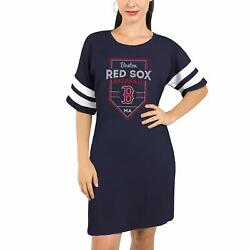 Boston Red Sox Majestic Threads Womenand039s Tri-blend Short Sleeve T-shirt Dress -
