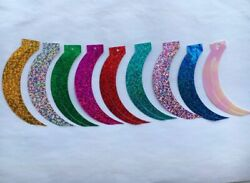 Loose Laser Sequins Sickle Cat Tail Shapes Reaphook Sewing Crafts 100pcs 1785mm