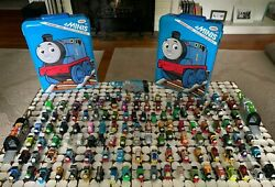 Thomas The Tank Engine Minis Lot Of 128 Trains W 2 Storage Case 3 Launchers Huge