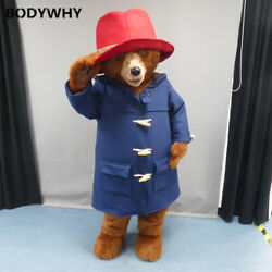 2020 Red Hat Bear Cartoon Costume Mascot Costume Suits Cosplay Party Ad Top