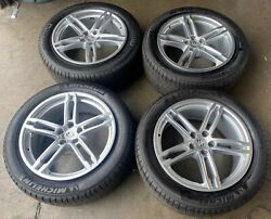 19'' Porsche Macan Oem Factory Wheels With Michelin Tires Staggered Silver Rims