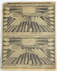 Vintage 1926 William A. Rogers Silverware Silver Lily Of The Valley Print Ad